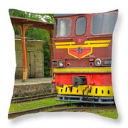 Soviet Era Train In Haapsalu Estonia Throw Pillow