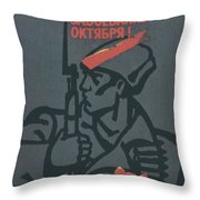 Soviet Russian Vintage Posters Throw Pillow