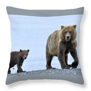Sow And Cub Throw Pillow