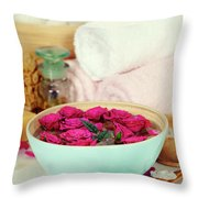 Spa Composition Throw Pillow