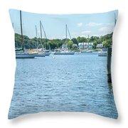 Spa Creek In Blue Throw Pillow