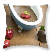 Spa Day Throw Pillow