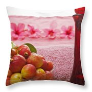 Spa Elements Throw Pillow