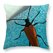 Space Age Beetle Throw Pillow