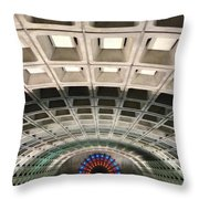 Space Age Underground  Throw Pillow