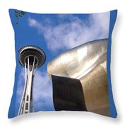 Space And Music Throw Pillow