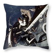 Space: Apollo 9 Throw Pillow
