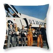 Space: Astronauts, C1961 Throw Pillow