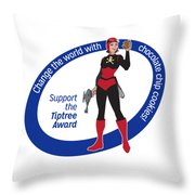 Space Babe Cookie Dk-blue Throw Pillow