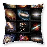 Space Beauties Throw Pillow