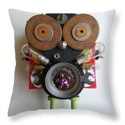 Space Bug Throw Pillow by Jen Hardwick