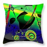 Space Carnival Throw Pillow