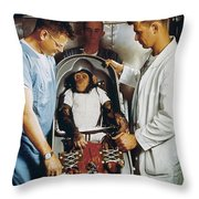 Space: Chimpanzee, 1961 Throw Pillow