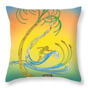 Space Coast Florida Throw Pillow