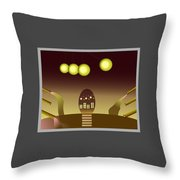 Space Door Throw Pillow