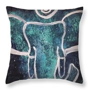 Space Elephant Spiral 2 Throw Pillow