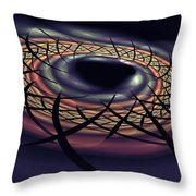 Space Fabric Punctured Throw Pillow