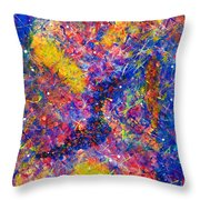 Space Glitter 15-14 Throw Pillow