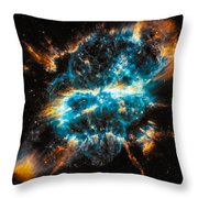 Space Image Blue And Orange Nebula Throw Pillow