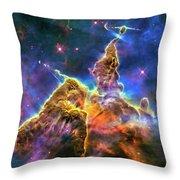 Space Image Mystic Mountain Carina Nebula Throw Pillow