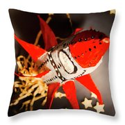 Space Launch To Seek And Discover Throw Pillow