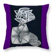 Space Maze Throw Pillow