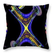 Space Needle And The Experience Music Project Throw Pillow