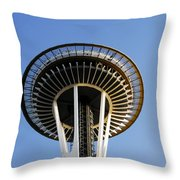 Space Needle Throw Pillow