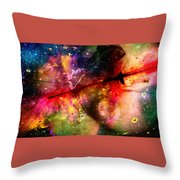 Space Pirate Emerges Throw Pillow