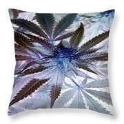 Space Plant Throw Pillow