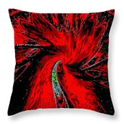 Space Poppy Throw Pillow