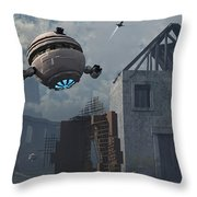 Space Probes And Androids Survey An Throw Pillow by Mark Stevenson