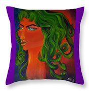 Space Queen Throw Pillow