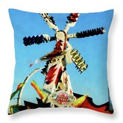 Space Racer In Distance Throw Pillow by Susan Savad