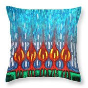 Space Rain Throw Pillow