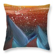Space Scape Throw Pillow