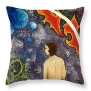 Space Serenity Throw Pillow