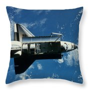 Space Shuttle Challenger Throw Pillow