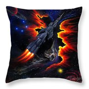 Space Shuttle. Flight Through The Never Throw Pillow