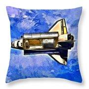 Space Shuttle In Space - Da Throw Pillow