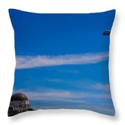 Space Shuttle Over Griffith Observatory Throw Pillow