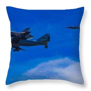 Space Shuttle Over Griffith Park Throw Pillow