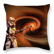 Space Soldier Throw Pillow