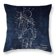 Space Suit Patent Illustration Throw Pillow