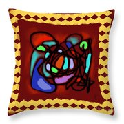 Space/time 14 - Harbour Lights Throw Pillow