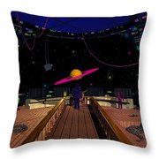 Space Voyagers Throw Pillow