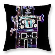 Spaceman Robot Throw Pillow