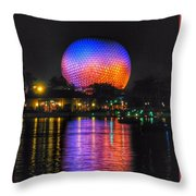 Spaceship Earth Reflection Throw Pillow