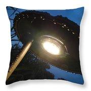 Spaceship Landscape Light Throw Pillow