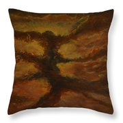 Spacestorm Throw Pillow